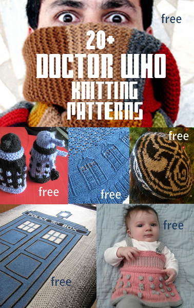 Dr Who Knitting Pattern : Soup of the day: Whovian knits and Wild mushroom soup The Curious Adventure...